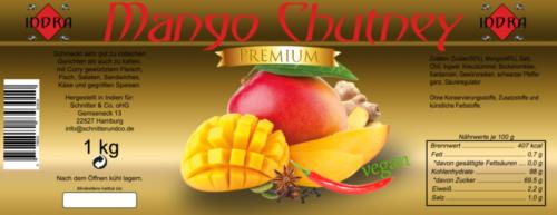 Mango Chutney entwurf 1Kg